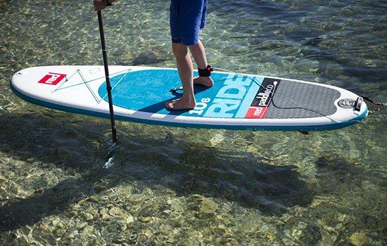 posición de pies en un paddle surf sup