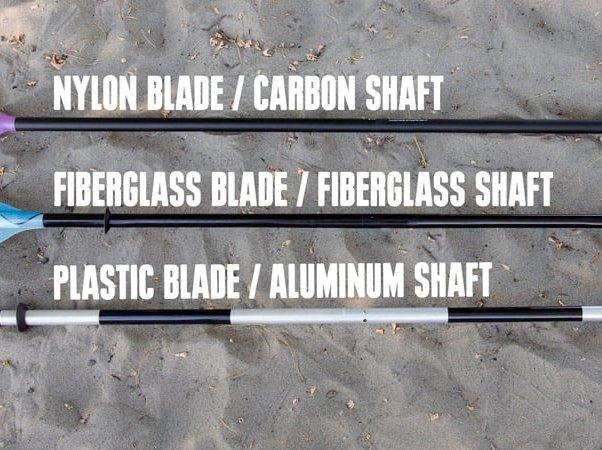 materiales de remo paddle surf