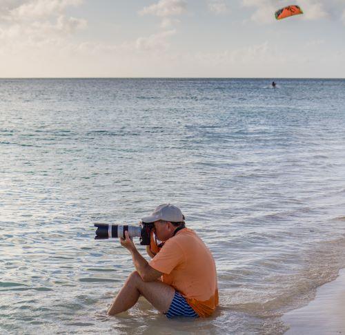 fotografo en el agua