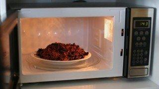 comida en microondas
