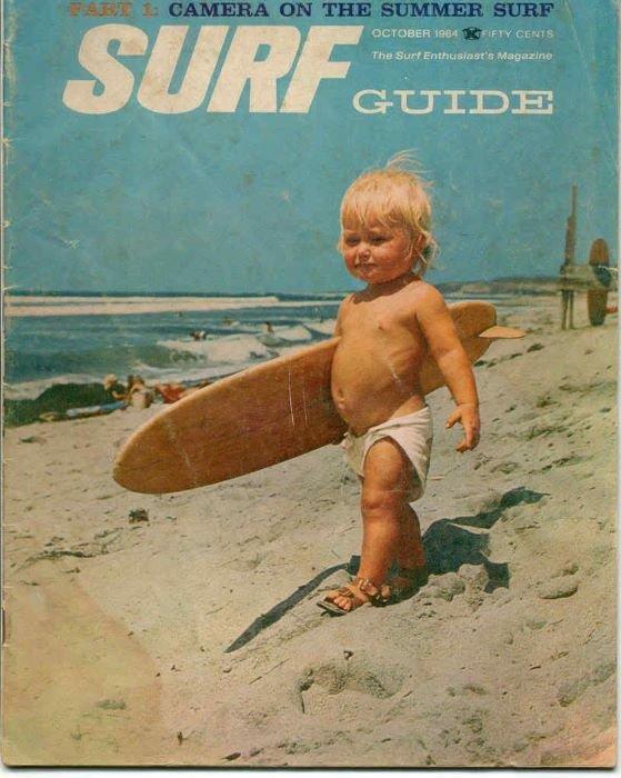 portada niño mar surf