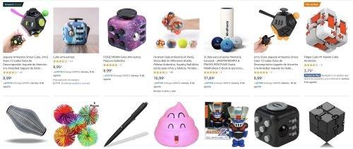 objetos y juguetes de ayuda antiestrés
