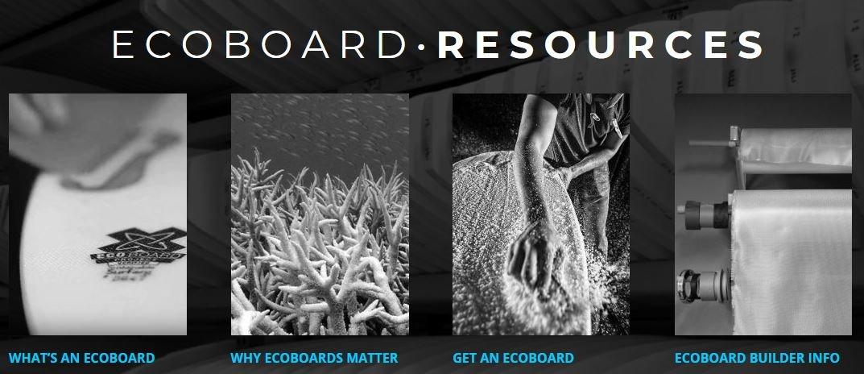 Imagen con todas las actividades de los ecoboard en tablas de surf ecológicas